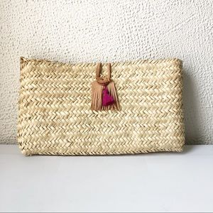 Anthropologie Mindy Living Woven Basket Clutch